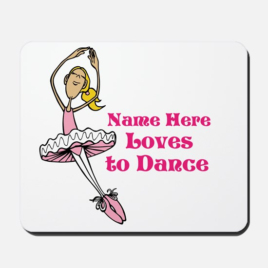 Custom Dancer Design Mousepad