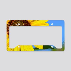 Sunflower and Honeybee License Plate Holder