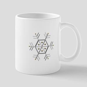 Silver and Gold Snowflake Mug