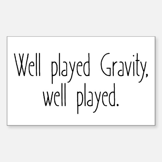 Gravity Games Sticker (Rectangle)