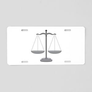 Balance Scale Aluminum License Plate