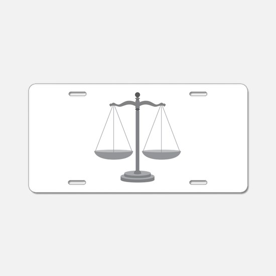 Balance Scale Aluminum License Plate