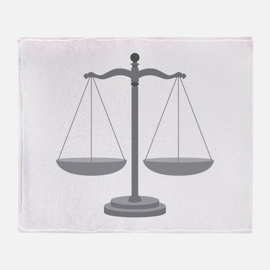 Balance Scale Throw Blanket