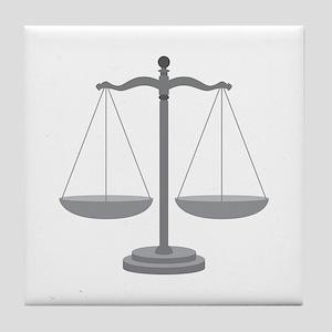 Balance Scale Tile Coaster