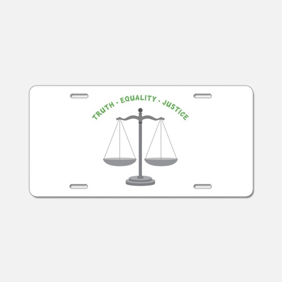 Truth-Equality-Justice Aluminum License Plate