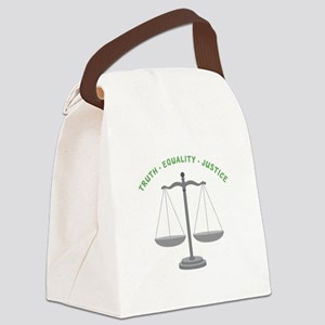 Truth-Equality-Justice Canvas Lunch Bag