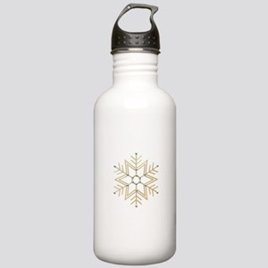 Gold and Silver Snowfl Stainless Water Bottle 1.0L