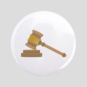 "Judges Gavel 3.5"" Button"
