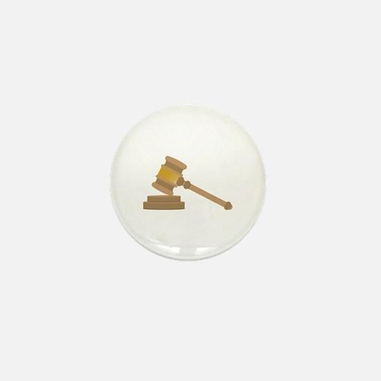Judges Gavel Mini Button