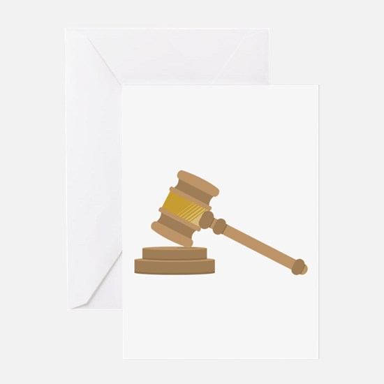 Judges Gavel Greeting Cards