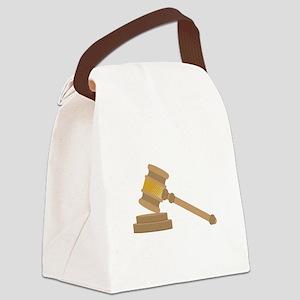 Judges Gavel Canvas Lunch Bag