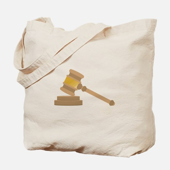 Judges Gavel Tote Bag