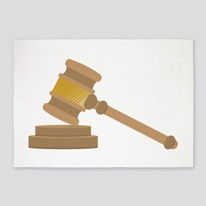 Judges Gavel 5'x7'Area Rug