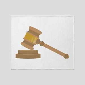 Judges Gavel Throw Blanket