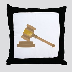 Judges Gavel Throw Pillow