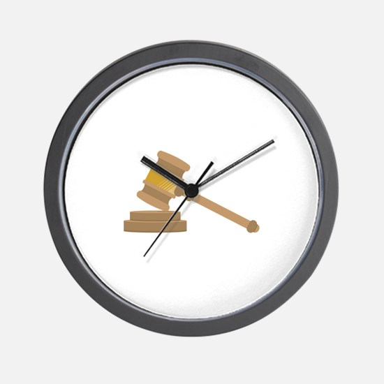 Judges Gavel Wall Clock
