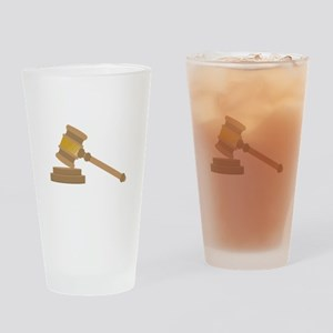Judges Gavel Drinking Glass