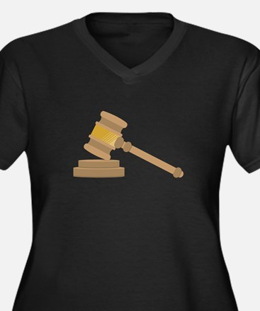 Judges Gavel Plus Size T-Shirt