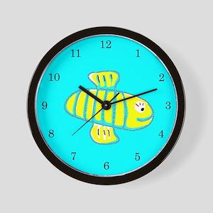 Turquoise Bee 274 Wall Clock