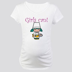 Girl Chef Maternity T-Shirt