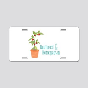 Nurtured & Homegrown Aluminum License Plate