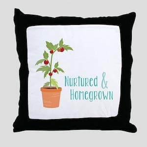 Nurtured & Homegrown Throw Pillow
