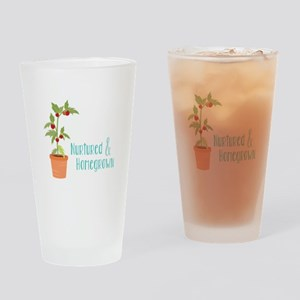Nurtured & Homegrown Drinking Glass