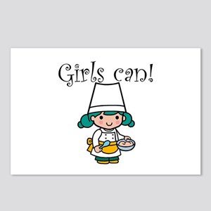 Girl Chef Postcards (Package of 8)