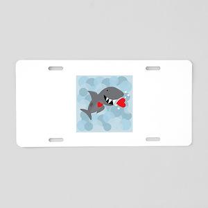 Love Shark Aluminum License Plate