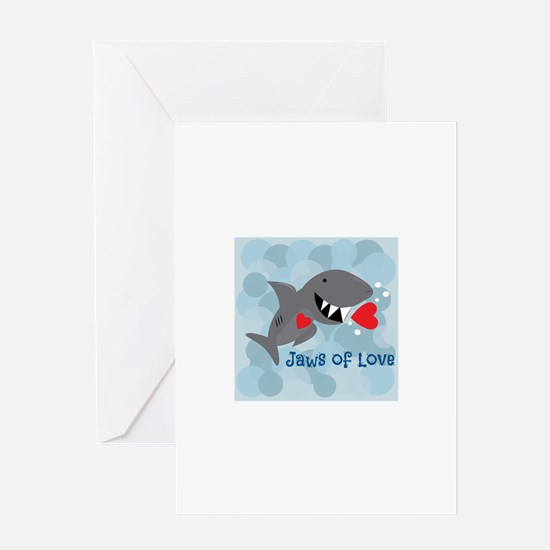 Jaws Of Love Greeting Cards