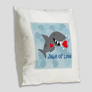 Jaws Of Love Burlap Throw Pillow
