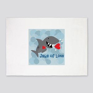 Jaws Of Love 5'x7'Area Rug