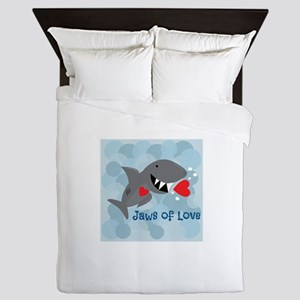 Jaws Of Love Queen Duvet