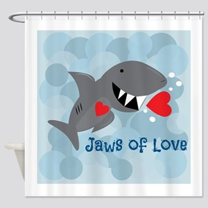 Jaws Of Love Shower Curtain