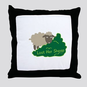 Lost Her Sheep Throw Pillow