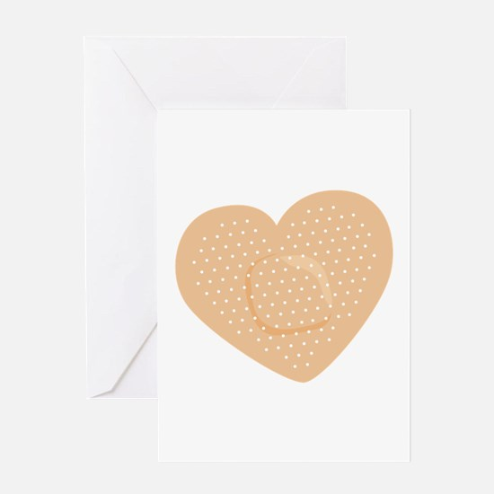 Heart Bandage Greeting Cards