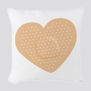 Heart Bandage Woven Throw Pillow
