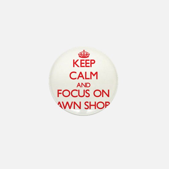 Cute Keep calm and shopping Mini Button
