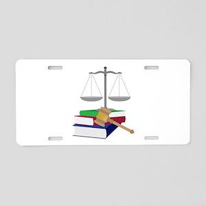 Lawyer Symbols Aluminum License Plate