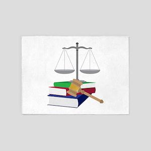 Lawyer Symbols 5'x7'Area Rug