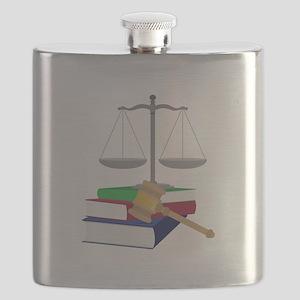 Lawyer Symbols Flask