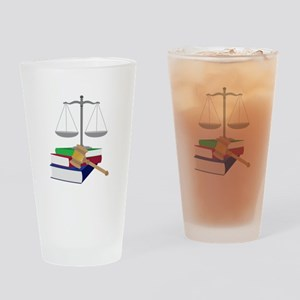 Lawyer Symbols Drinking Glass