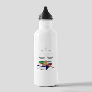 Lawyer Symbols Water Bottle