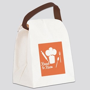 Knead To Know Canvas Lunch Bag