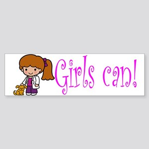 Girl Veterinarian Bumper Sticker