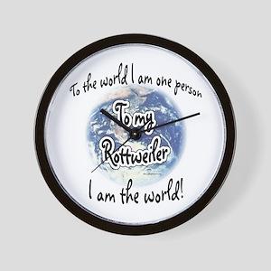 Rottweiler World2 Wall Clock
