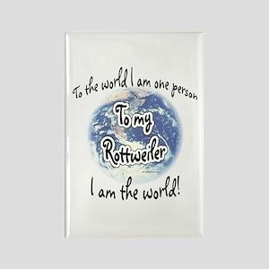Rottweiler World2 Rectangle Magnet