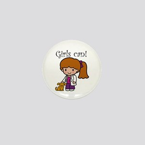 Girl Veterinarian Mini Button