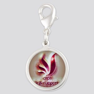 Crps Round Silver Charm Charms