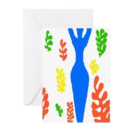 Homage To Matisse Woman Greeting Cards (Package of